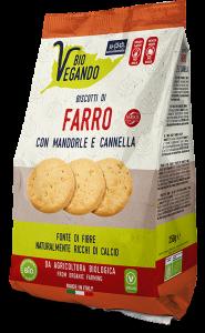 BioVegando Biscotti Farro con Mandorle e Cannella