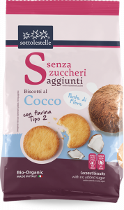 Senza Zuccheri Biscotti con Farina tipo2 al Cocco